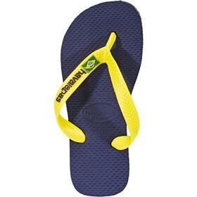 havaianas Brasil Logo Flips navy blue/citrus yellow